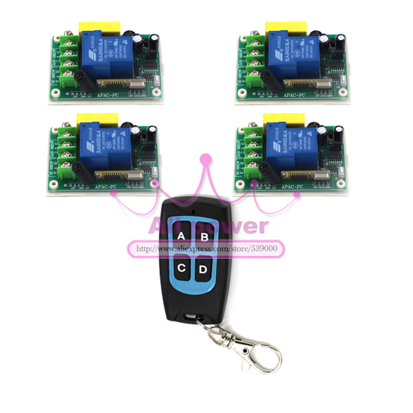 Free Shipping 220V 30A RF 3000W 200M Wireless Remote Control Switch and Controller System remote control outlet switch z-wave