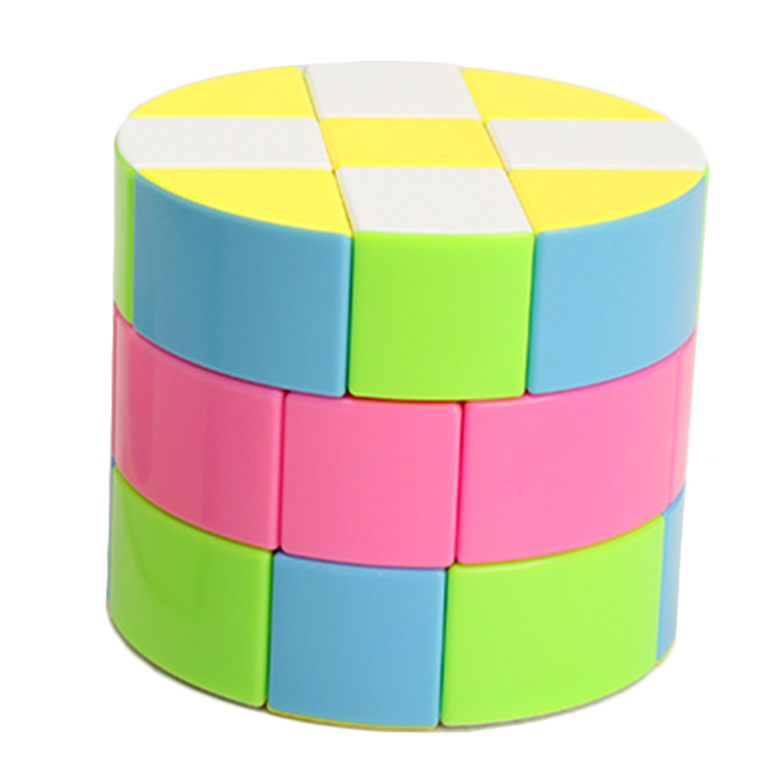 ZCUBE Cloud Series 3x3 Cylinder Magic Cube Speed Cube Puzzle Toy Colorful
