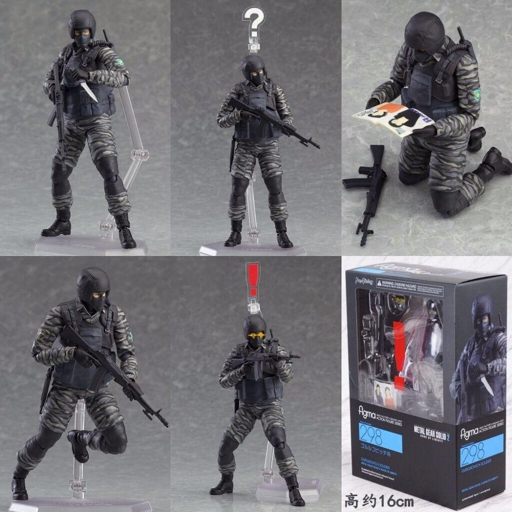 METAL GEAR SOLID 2: SONS OF LIBERTY Figma 298 Gurlukovich PVC Action Figure Collectible Model Toy Christmas Gifts god of war ghost of sparta kratos pvc action figure collectible model toy 22cm christmas gifts