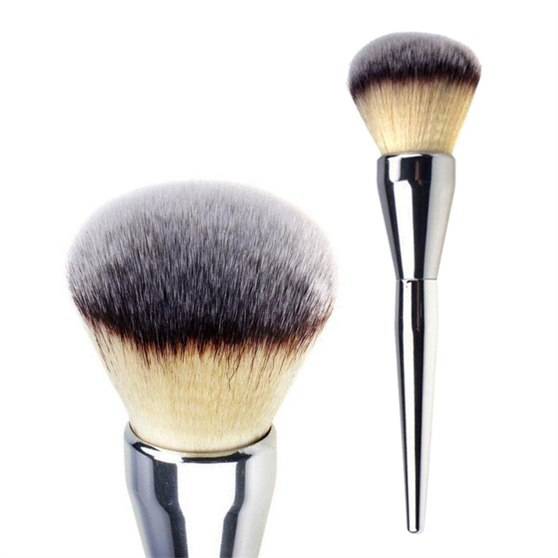 Very Big Beauty Powder Brush Blush Foundation Round Make Up Tool Large Cosmetics Aluminum Brushes Soft Face Makeup LL059 5pcs beauty large makeup brushes set foundation powder blush make up brush cosmetics tool black gold with leather bag