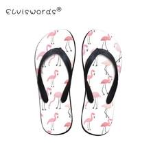 1a1980244737 ELVISWORD Cartoon Flamingo Printed Flip Flops Women Summer Slip on Beach  Sandals Ladies Water Shoes for Females Fashion Slipper-in Flip Flops from  Shoes on ...