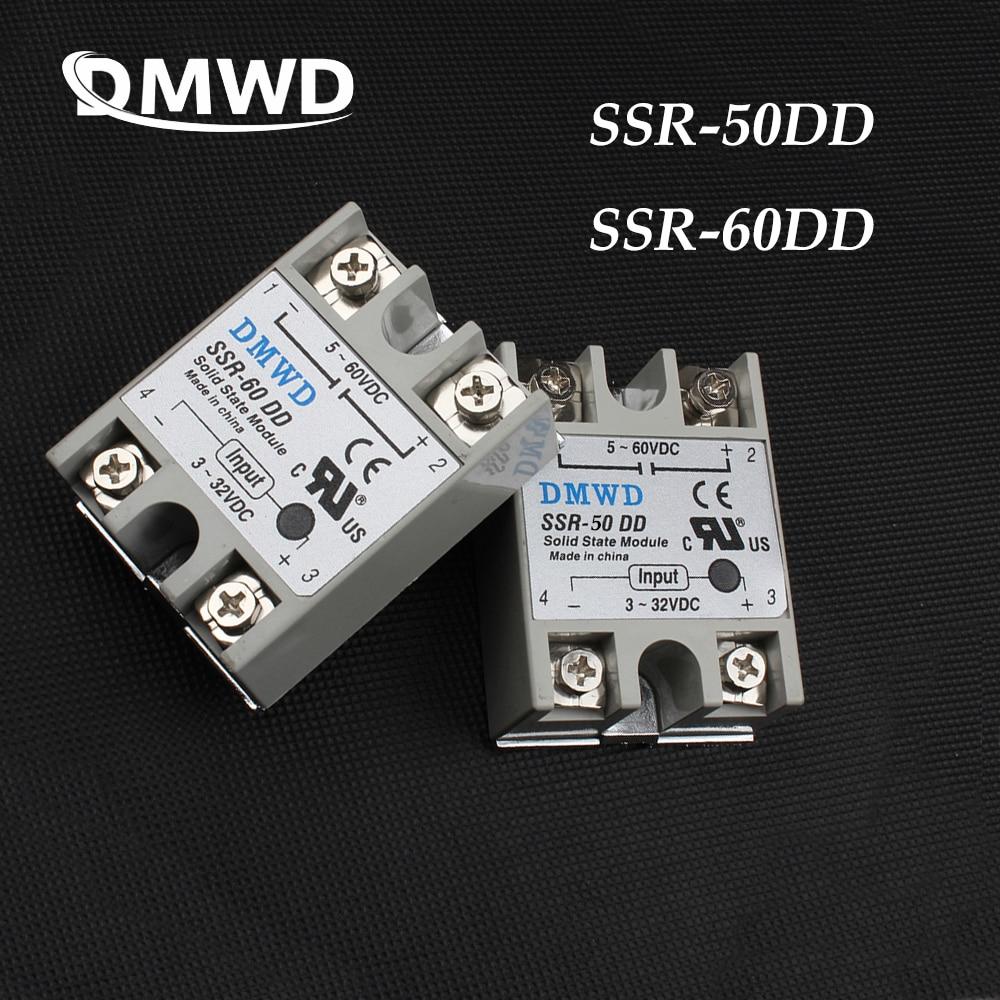TOP BRAND DMWD solid state relay SSR-50DD SSR-60DD 60A 50A 3-32V DC TO 5-60  DC SSR 60DD 50DD relay solid state