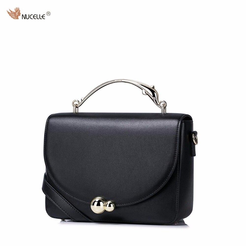 2017 New NUCELLE Brand Design Golden Dolphi Handle High Quality Soft PU Leather Women Lady Handbag Shoulder Crossbody Flap Bags
