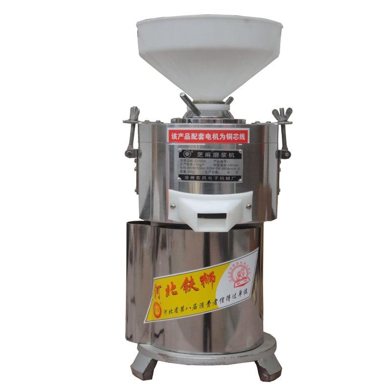 220V Commercial Electric Sesame Peanut Butter Machine Grinding Machine Grinder 15kg/h Peanut Butter Sesame Peanut Paste