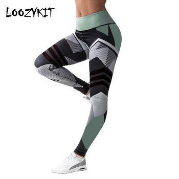 Loozykit Women Yoga Pants Sport Compression Tights Slim Sports Clothing Yoga Sportswear Hip Control Fitness Exercise Leggings