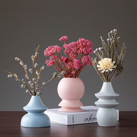 New Modern minimalist ceramic vase home decoration accessories Mini Flower vases Origami flower pot creative wedding gifts