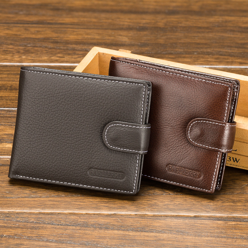 Baellerry New 2017 Hot High Quality Genuine Leather Wallet Men Wallets Fashion Organizer Purse Billfold Buckle Coin money bag us and european hot selling new high quality vintage men s long money wallet baellerry wholesale purse clutches for man w008