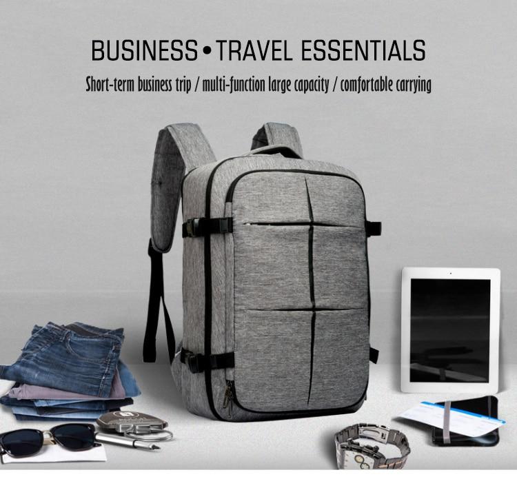 Cai bande valise Design étanche sac à dos pour ordinateur portable femmes multifonctionnel grande capacité sac à dos hommes d'affaires sacs de voyage-in Sacs à dos from Baggages et sacs    2