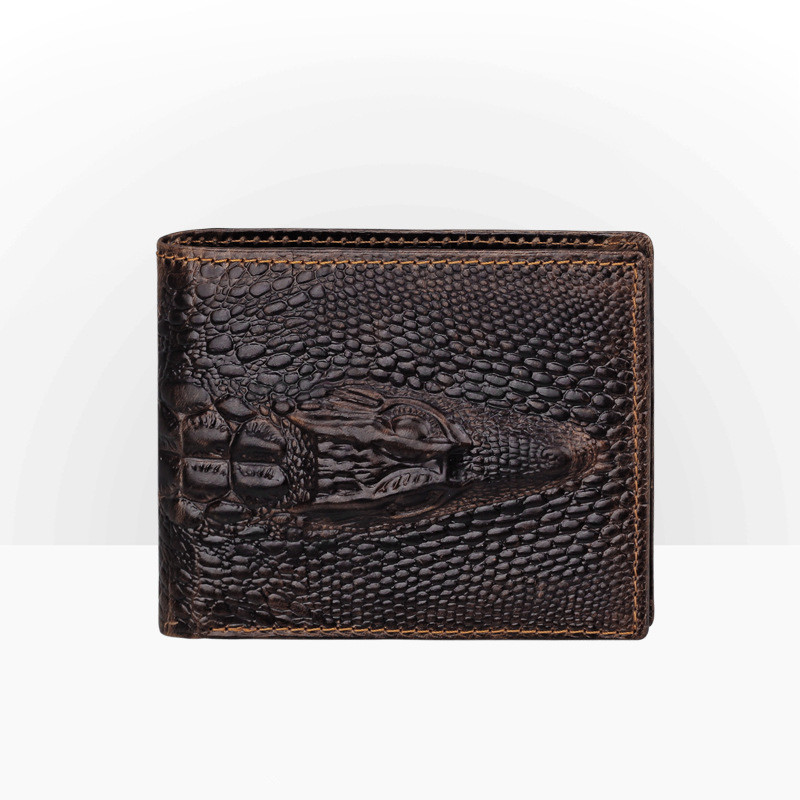 fff1f82f52 Fashion Mens Genuine Leather Crocodile Animal Print Wallet Men ...