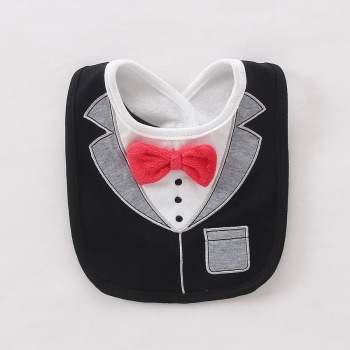 Wet Wipes Removable Baby Bibs Waterproof Babys Tuedo Kids Dinner Feeding Bib Saliva Towel Child Red Bow Tie