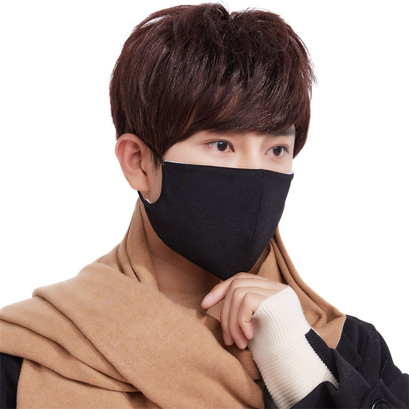 1 Pc Black Health Cycling Anti-Dust Mouth Face Mask Respirator Unisex Fashion Kpop Mouth-Muffle Face Masks Free Shipping