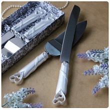 Fashion wedding cake knife marriage props double hearts Cake Knife and Serving Set  pizza knife cake knife serving set