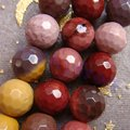Hot Sale 8mm Faceted Natural Mookaite Gem Cut Ball Round Loose Beads For Jewelry Making  47pcs/lot free shipping