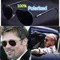 2017 de Moda Diseñador de la Marca de Lujo Hombres Polarizados Espejo gafas de Sol UV400 Classic Vintage Retro Metal Gafas de Sol para Los Hombres de Conducción