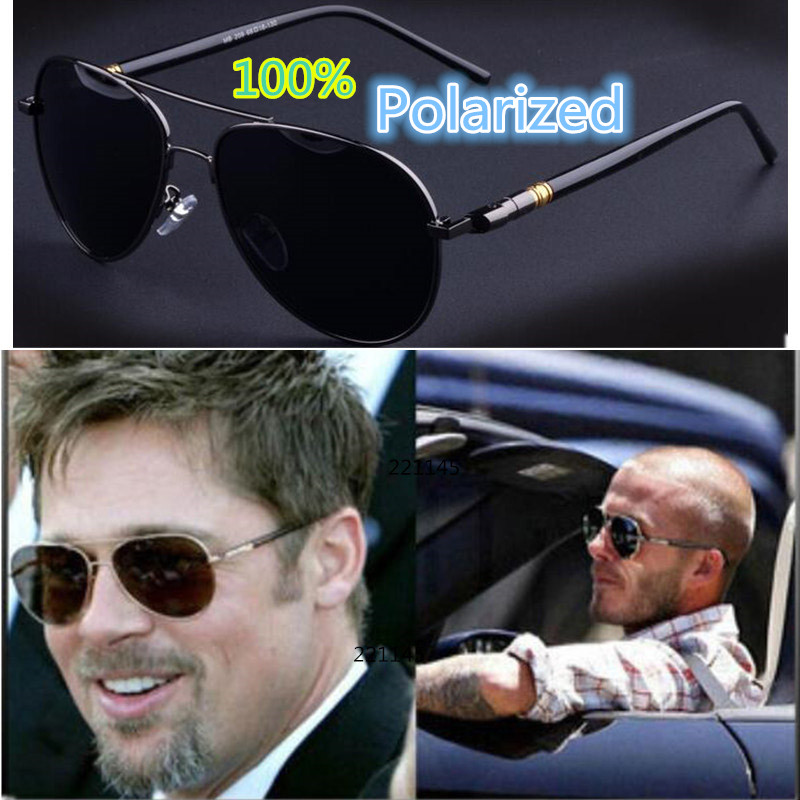 BOYEDA klasszikus férfi napszemüveg polarizált UV400 Vintage fém márkatervező napszemüveg férfiaknak Retro kerek pilóta vezetési szemüveg