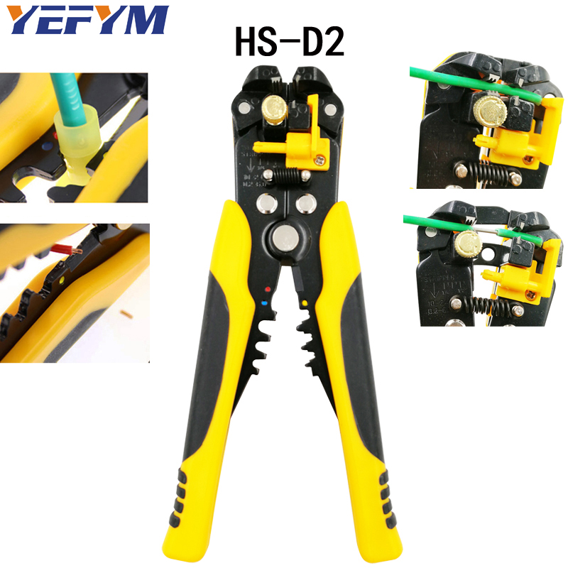 3 in 1 Multi tool Automatic Adjustable Crimping Tool Cable Wire Stripper Cutter Peeling Pliers D2 repair tools diagnostic-tool newacalox multifunction self adjustable terminal tool kit wire stripper crimping pliers wire crimp screwdriver with tool bag