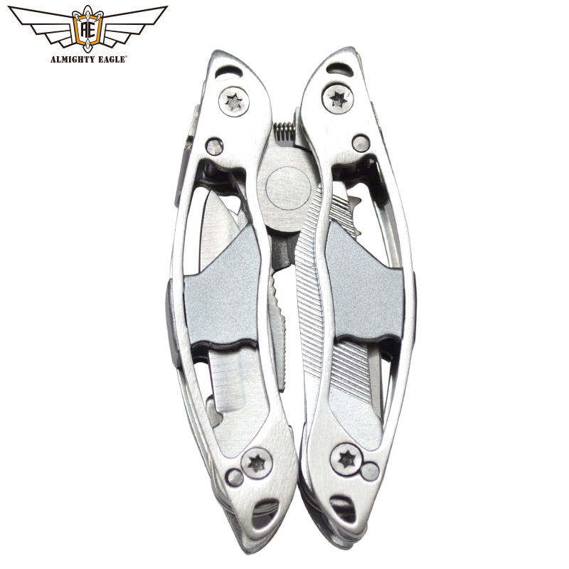 ALMIGHTY EAGLE Multifunctional Plier 10in1 Hand Tools Mini Pliers Portable Folding Knife Screwdriver Survival Camping Equipment