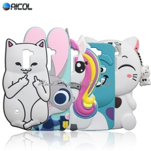 Ponto case para lg k10 bonito cat soft case para lg k10 M2 K420N K430DS/Coelho Q10 Minnie Kitty Garrafa Cão Cavalo Capa