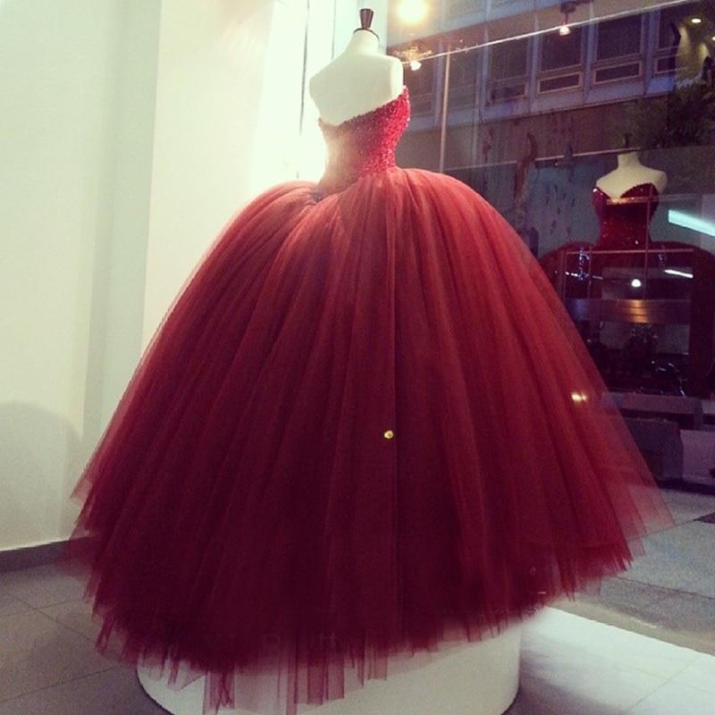 2016 marsala red wedding dresses beaded crystals sexy v for Red sexy wedding dresses