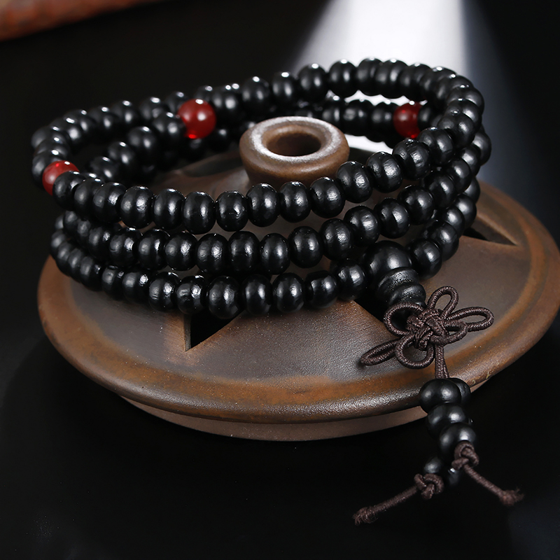 Retro Prayer Buddhist Buddha Bracelets For Men Women Multilayer Vintage Sandalwood 6mm Beads Bracelet Handmade Fashion Jewelry