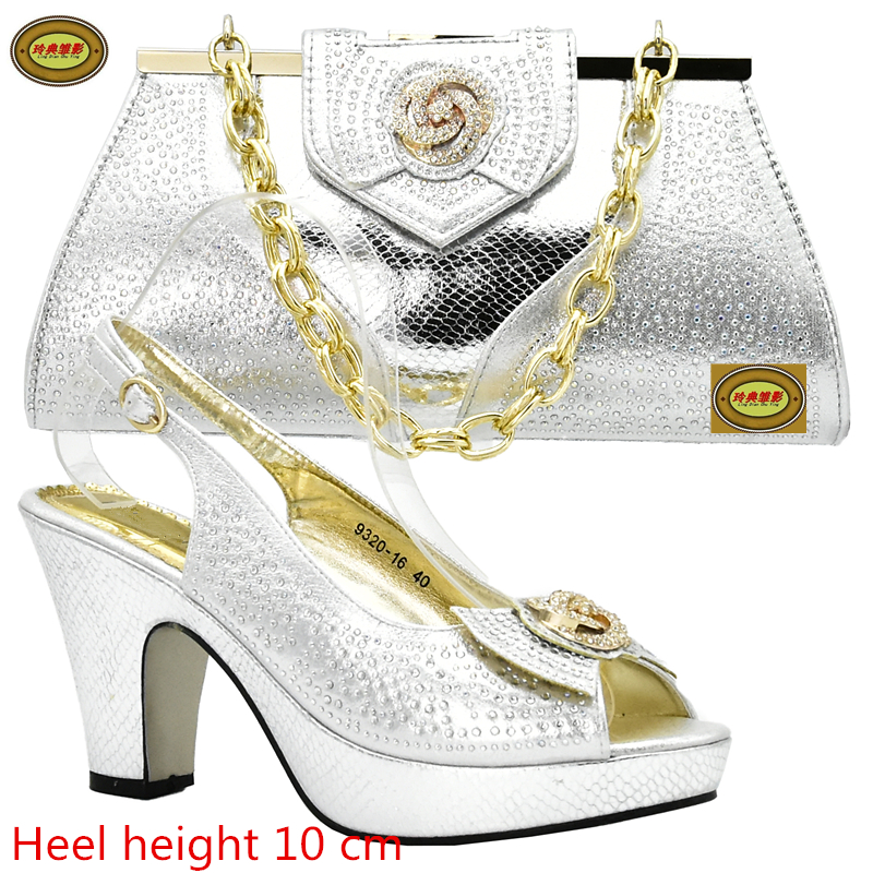 DS10 Free Shipping  Popular African High Heels Shoes Matching Bag Sexy Lady Pumps Italian Shoes And Bag Set For Wedding free shipping african women bags and shoes for wedding heels good quality italian shoes with matching bag me7705