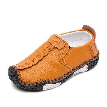 Primavera otoño niños zapatos casuales para niños tamaño 21-30 zapatos de niño pequeño de cuero de PU suave mocasines de niños zapatos flexibles de deslizamiento para niños
