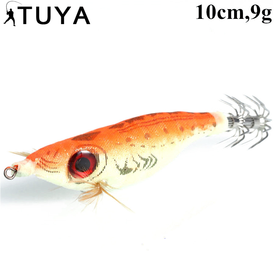 TUYA Bionische garnalen vissen lokken Inktvis hout Drijvende lokken - Visvangst