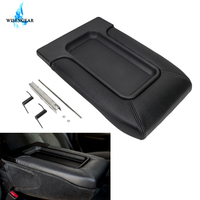 Leather Center Console Armrest Cover Lid Arm Rest Box For Chevy Chevrolet Tahoe Silverado Avalanche GMC Sierra Yukon WISENGEAR /