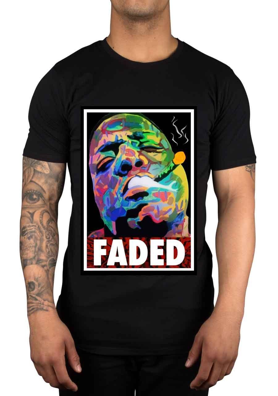 Design t shirt gildan - Aliexpress Com Buy Design T Shirts Casual Cool Gildan Crew Neck 100 Cotton Short Sleeve Biggie Smalls Faded Mens Tee From Reliable Men Tees Suppliers On