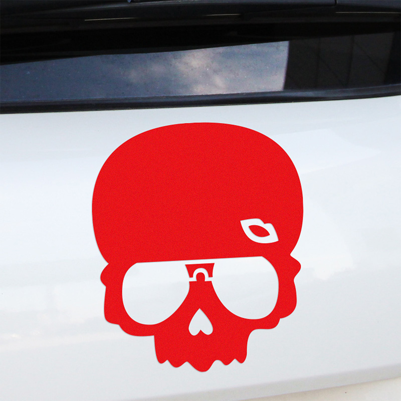 3 Pieces Lip Skull Stickers Decal Car Styling For vw audi ford Nissan JUKE bmw Benz renault opel car accessories