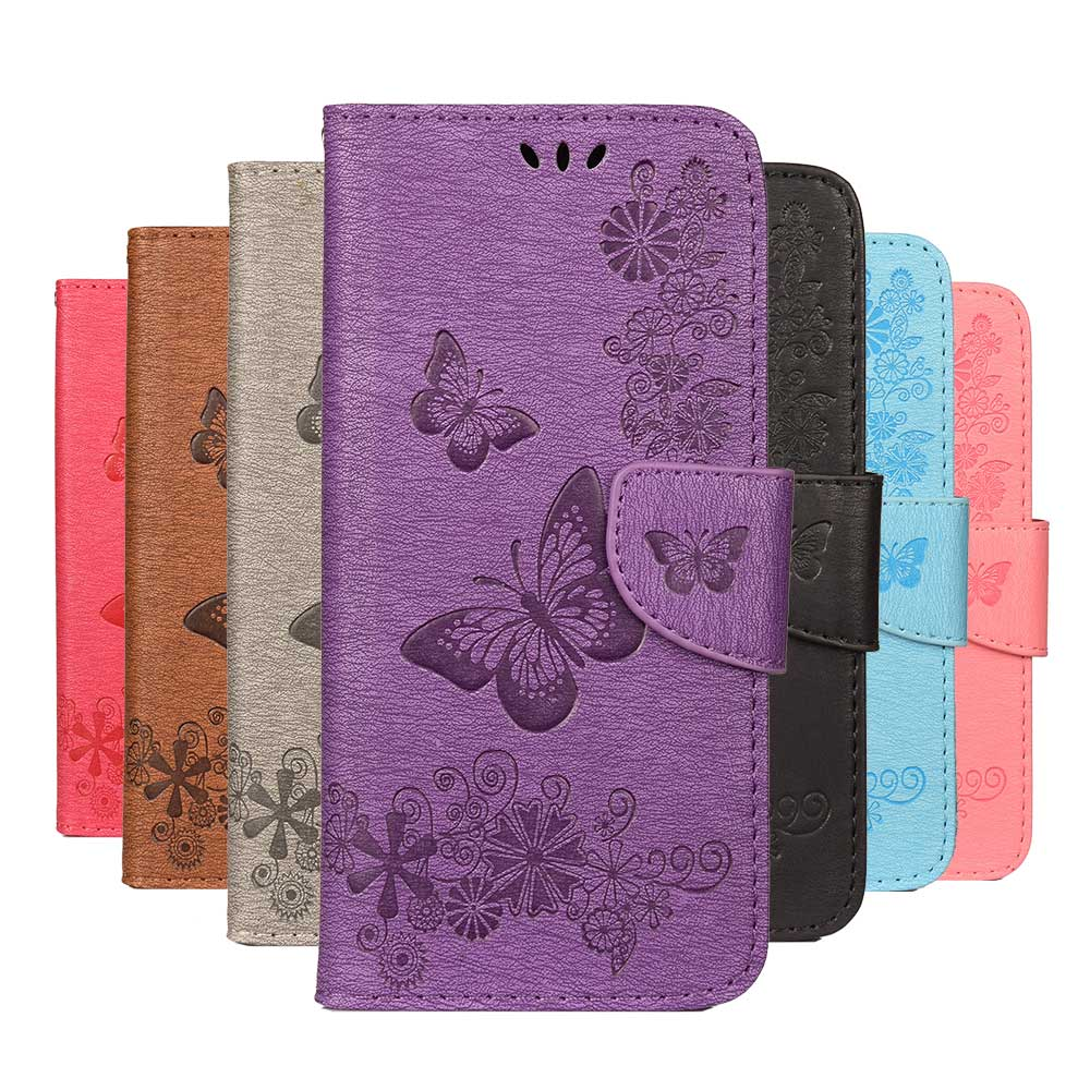 Butterfly Flip <font><b>Case</b></font> For <font><b>Samsung</b></font> Galaxy A9 A8 A7 A6 plus 2018 <font><b>A5</b></font> A3 2017 J6 J4 Plus J5 J3 <font><b>2016</b></font> Note 7 8 9 Wallet Cover <font><b>Phone</b></font> <font><b>Case</b></font> image