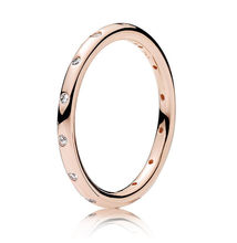 ff9cddd7c 925 Sterling Silver Pandora Ring Rose Golden Sparkling Droplet Stack Rings  For Women Wedding Party Gift Fine DIY Jewelry
