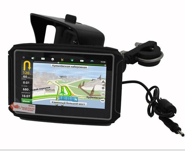 """Отлично 4.3 """"Мотоцикл GPS Навигации Завод Продает Автомобиль Moto Велосипед Навигатор С 8 Г Bluetooth ВОДОНЕПРОНИЦАЕМОСТЬ IPX7 Бесплатная Карта"""