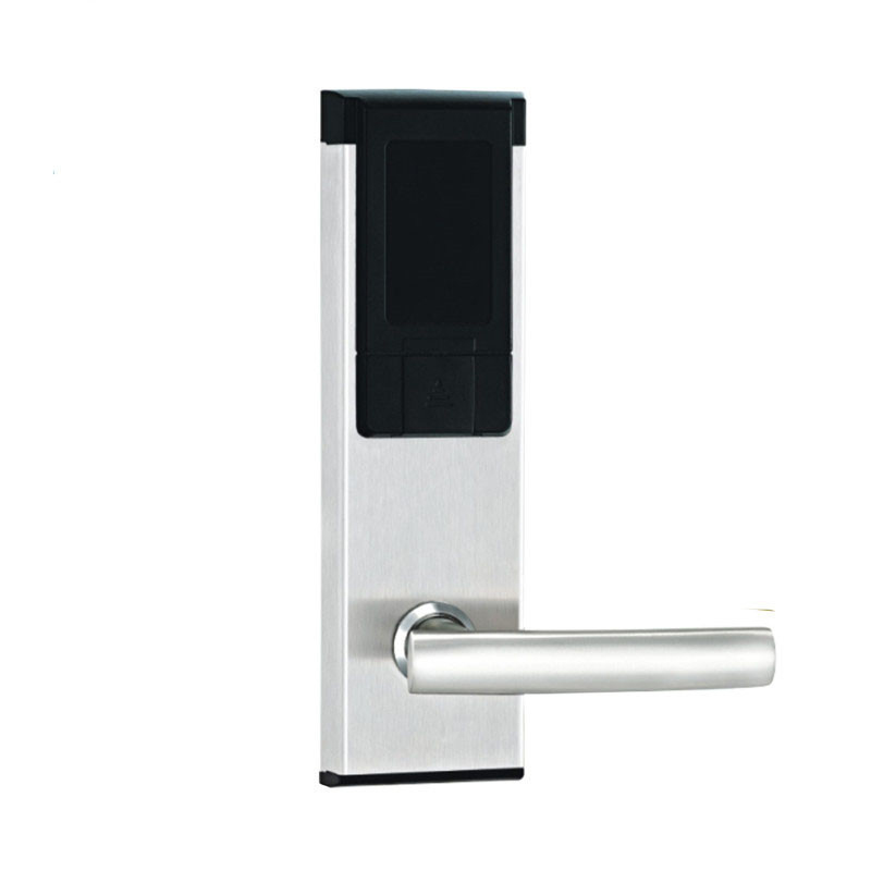 Electric Lock Electronic Rfid Card Door Lock With Key For Home Hotel Apartment Office Latch With