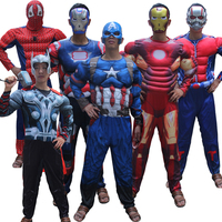 The Avengers Thor Classic Muscle Cosplay Men Captain America Costumes Adult Batman Spider Man Cosplay Costume