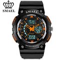 SMAEL Brand Men Sports Watches Dual Time Zone Analog LED Digital Quartz Watch Fashion Student Outdoor Multifunction Wristwatch