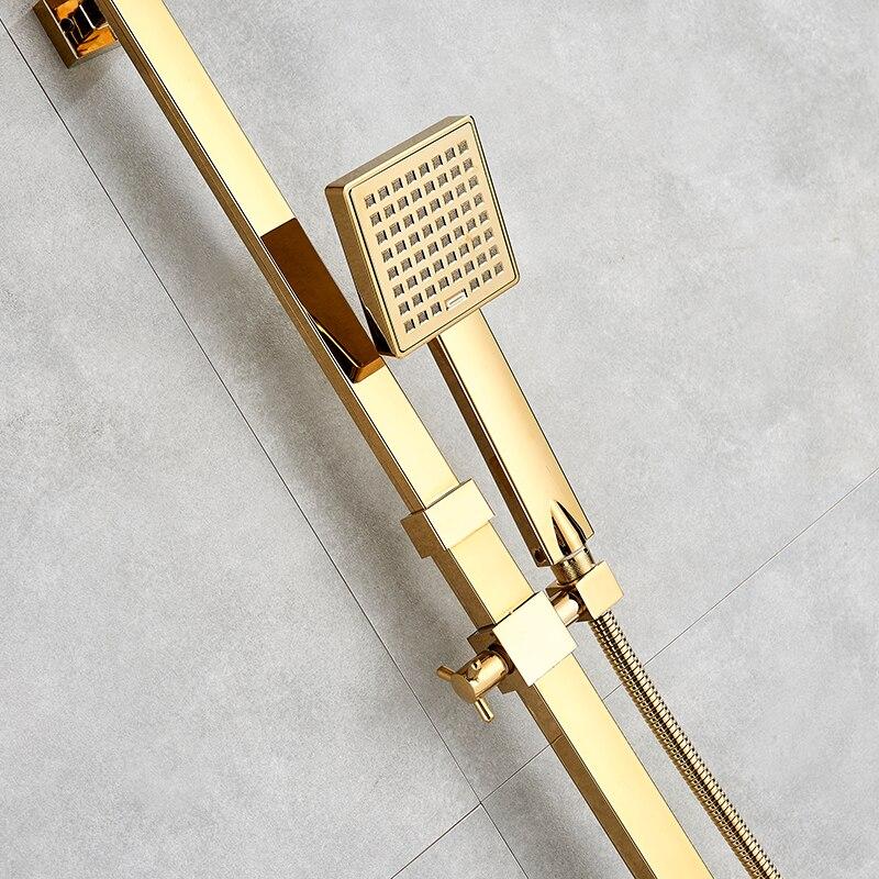 HTB1L6K GuSSBuNjy0Flq6zBpVXai Bathtub Faucets Luxury Gold Brass Bathroom Faucet Mixer Tap Wall Mounted Hand Held Shower Head Kit Shower Faucet Sets