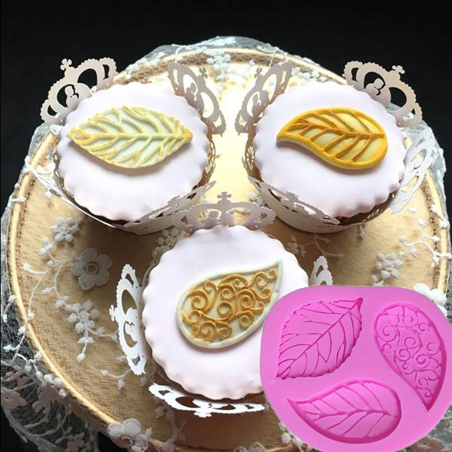 1PCS Leaves Shape  Silicone Lace Cake Tools, Cookie Cutter,For Cake ,Jelly,Candy,Bakeware Decorating M041