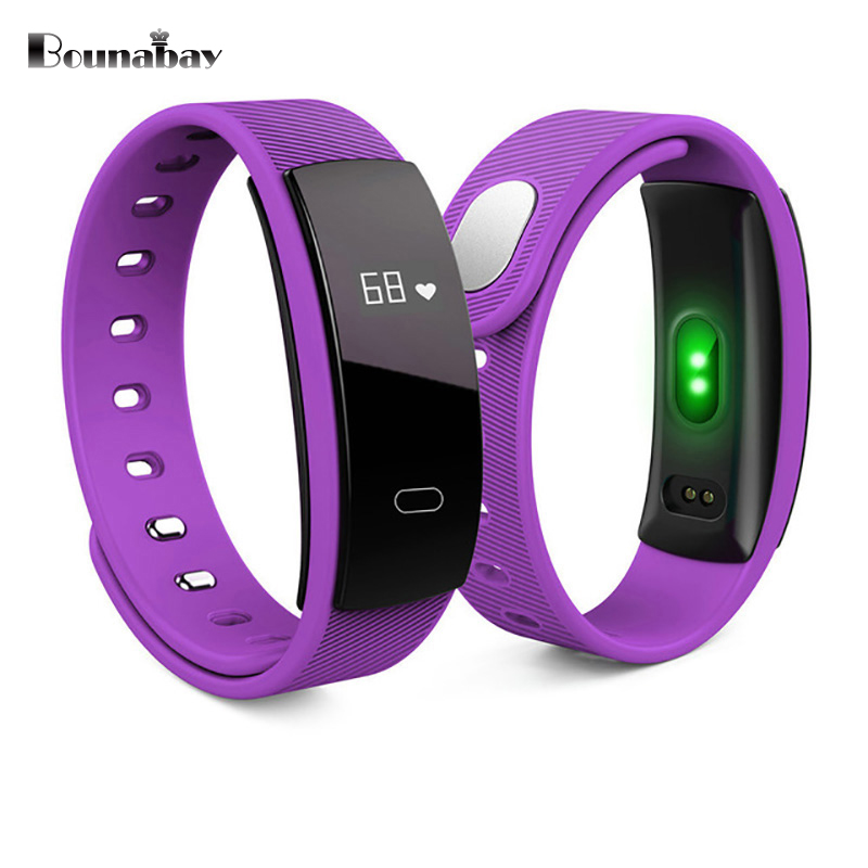 BOUNABAY Heart Rate Pedometer Bluetooth 4.0 Smart woman watch for apple android phone waterproof women Clock Touch women Clocks