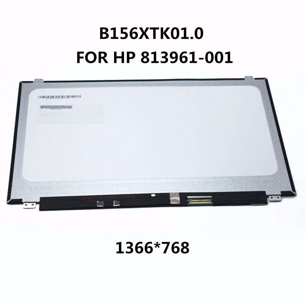 Original New LAPTOP LED LCD SCREEN Panel Touch Display Matrix FOR HP 813961-001 15.6 inch HD B156XTK01 V.0 B156XTK01.0 1366*768 for samsung r425 14 0 led display laptop lcd screen matrix panel glossy 1366 768 hd lvds 40pins