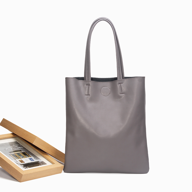 ФОТО 2016 new real leather handbag solid color soft surface Tote bag Genuine Leather Casual Totes large bags portable shoulder bag