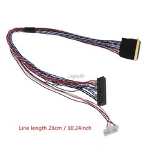 I-PEX 20453-040T-11 40Pin 2ch 6bit LVDS Cable For 10.1-18.4 inch LED LCD Panel Drop ship(China)
