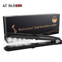 110 240V Professional Hair Steam Straightener Tourmaline Ceramic Vapor Hair Care Styling Tools 450F Argan Oil