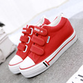 Fashion Women Casual Shoes Wedges Canvas Shoes Girls Trainers Platform Shoes Hook & Loop Basket