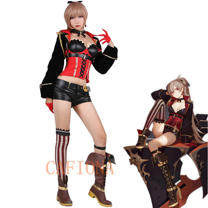 Cafiona Anime World Of Warship cosplay Ball Cosplay Costumes super soldier outfit for Halloween Christmas
