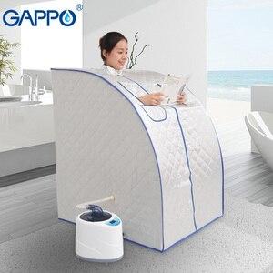 GAPPO Steam Sauna portable steam bath home steam sauna room infrared sauna box SPA with steam generator capacity 2L Weight loss
