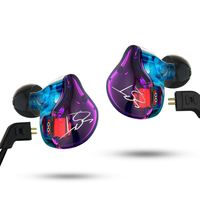 Original KZ Earphones With Detachable Replacement Cable ES3 ZST ED12 HIFI Dynamic In Ear Headset Sports
