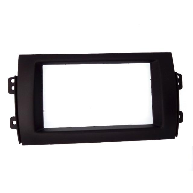 ITYAGUY Car Double 2DIN Refitting Radio Stereo DVD Frame Fascia Dash Panel Installation Kits For SUZUKI SX4 (07~10)
