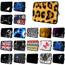 "Universal 14 Inch Notebook Zipper Inner Cases For Dell HP Chromebook 14 Leopard Laptop 14.1"" 14.4"" Protect Nylon Bag Shell Cover(China)"