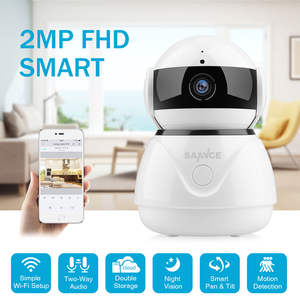 SANNCE Baby Monitor Surveillance-Camera Network Wifi CCTV Night-Vision Mini Home-Security